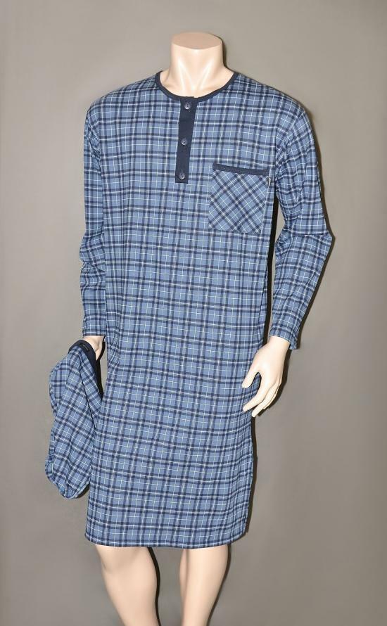 Noční košile Cornette 110 pánská - 3XL - modrá
