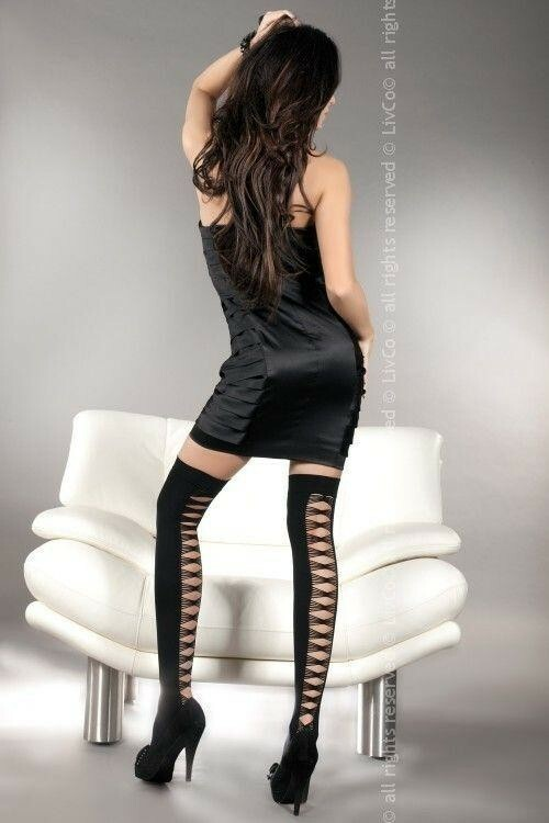 Punčochy Sheila - LivCo Corsetti - S/L - černá