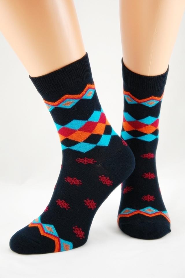 Dámské bambusové ponožky s hvězdičkami 3 - 38-41