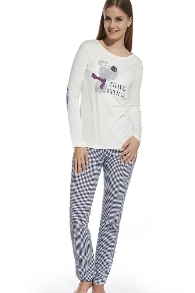 Dívčí pyžamo 552/25 Travel ecru