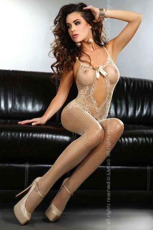 Bodystocking Magali beige