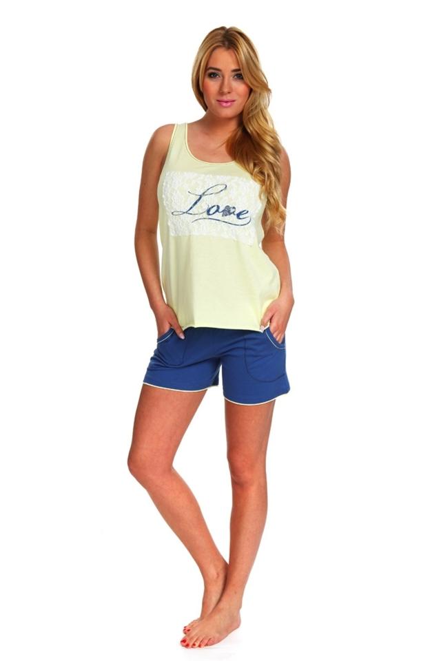 Dámské pyžamo Love - Italian Fashion - XL - sv.modrá/tm.modrá
