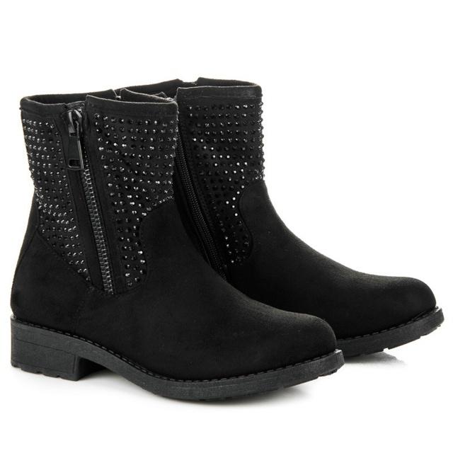 Dámské boty HY1732-1 - Abloom - 38 - černá