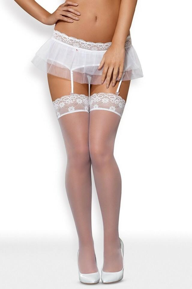 Dámské punčochy Julitta stockings - L/XL - bílá