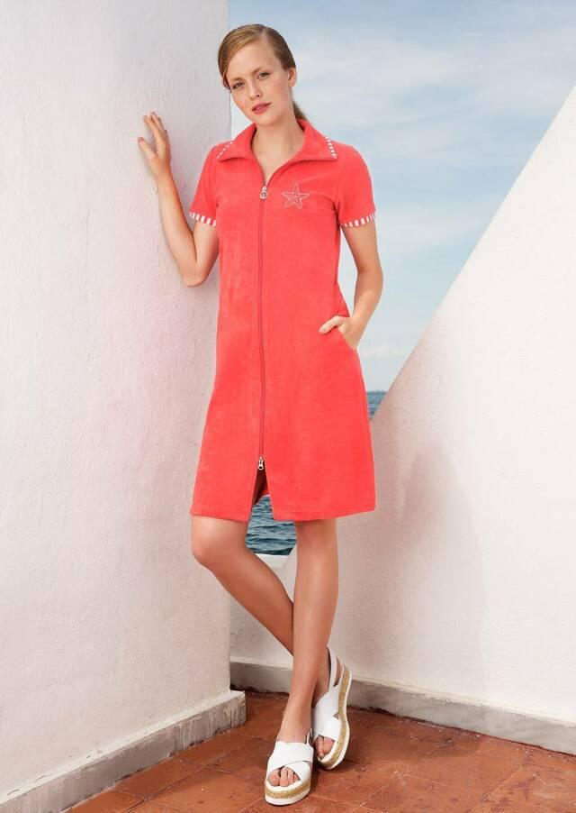 Dámské šaty 3352 - Vamp - XL - oranžová