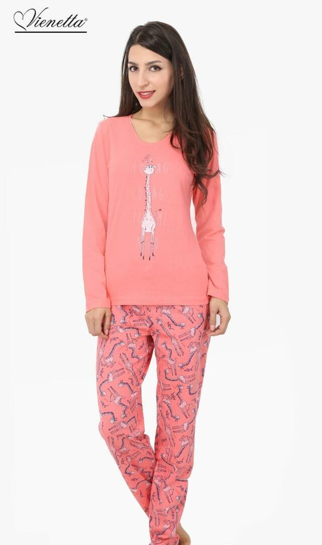Dámské pyžamo dlouhé Žirafa Long