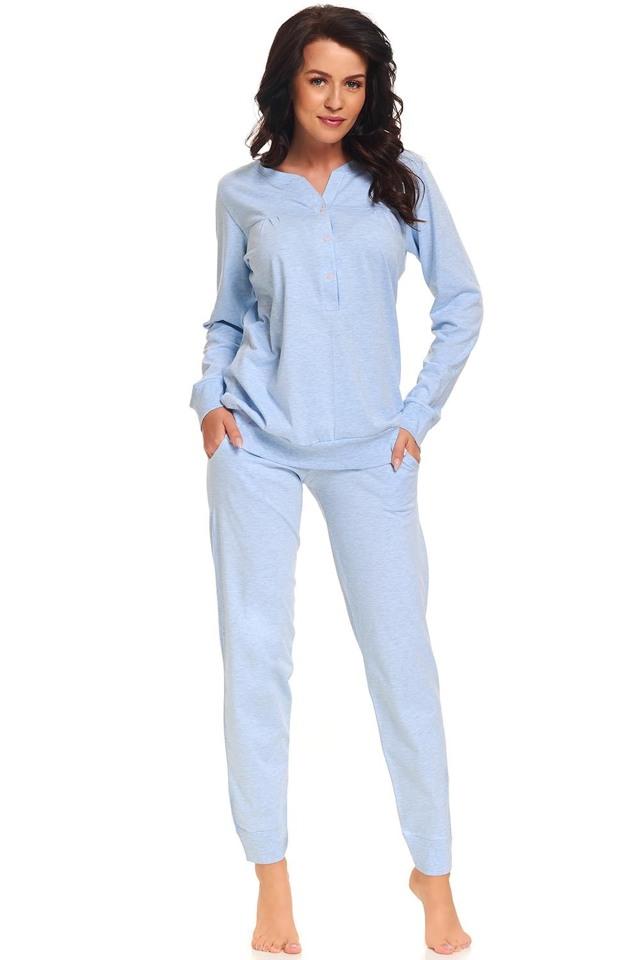 Dámské pyžamo Dn-nightwear PM.9326 - M - modrá šedá