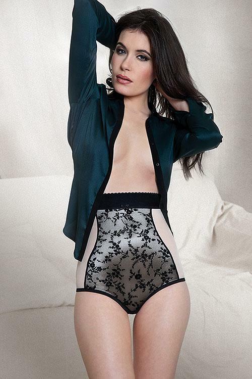 Stahovací kalhotky Mitex Daily - L - béžovo-černá