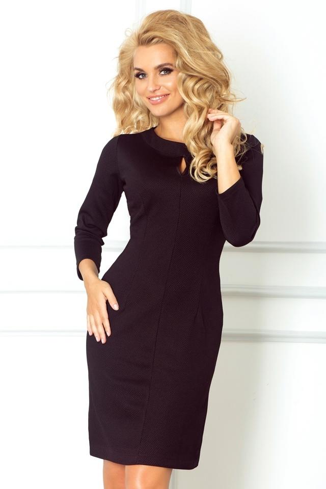 Černé šaty s výkrojem ve tvaru slzy 67-1