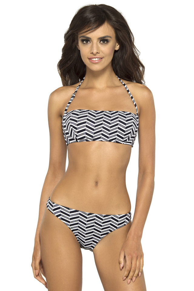 Dámské plavky Alison bandeau s kosticemi - S