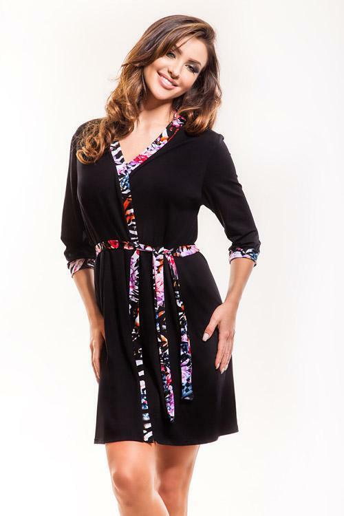 Dámský župan Hamana Libra dressing gown - S/M - černá