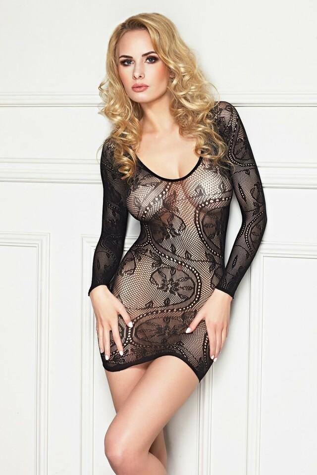 Erotické šaty Sabara - S/M - černá