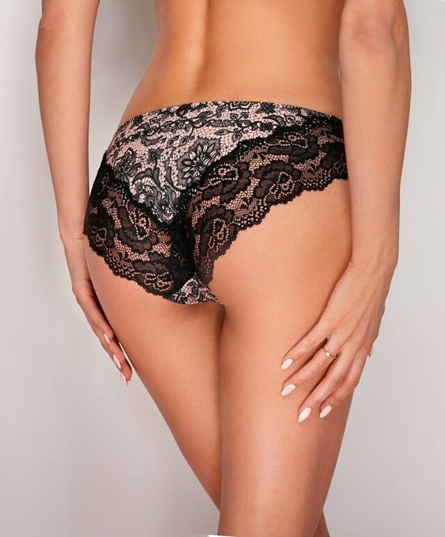 Klasické kalhotky figi Ewana N 53 - S - černá