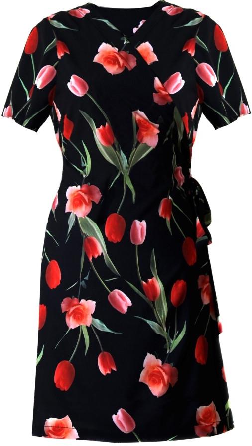 Plážové šaty Betty 1454 9901 - Vestis - L - černá s květy