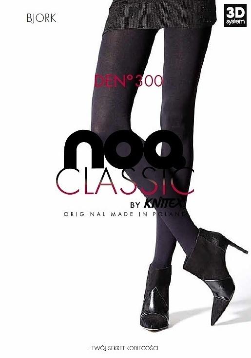 Punčochové kalhoty Knittex Noa Bjork 3D 300 den - 4-L - černá/stříbrná
