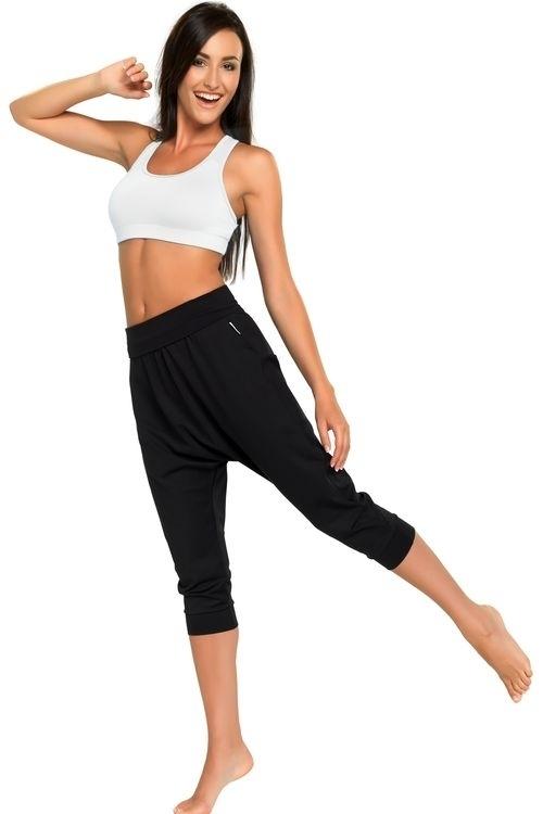 Dámské fitness kalhoty Creola I black - S - černá