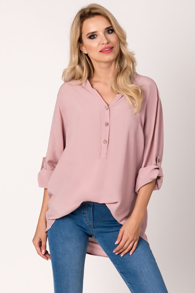 00fc0097a69 Dámská košilová halenka Avaro BL-1683 - UNI - růžová