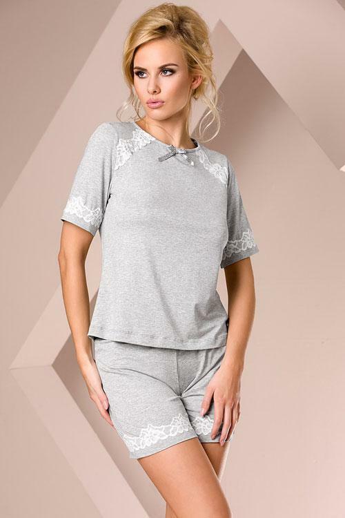 Dámské pyžamo Passion PY013 grey