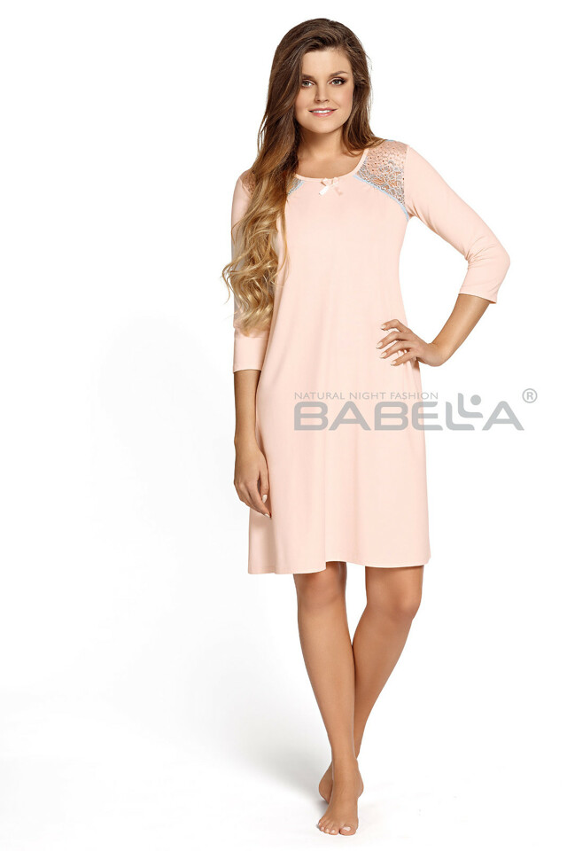 Noční košile Babella Ramona M-4XL - XL - krémová-béžová