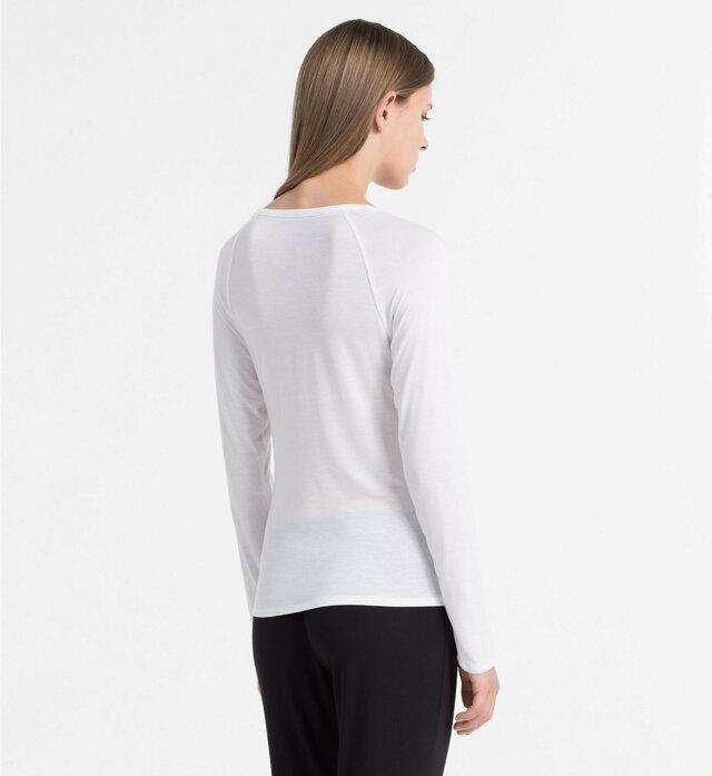 Dámské tričko QS5493E bílá - Calvin Klein