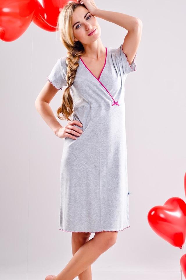 Těhotenská/kojící noční košile Dobranocka TCB.1055 - L - rose