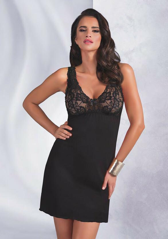 Noční košilka Donna Sally - XL - černá