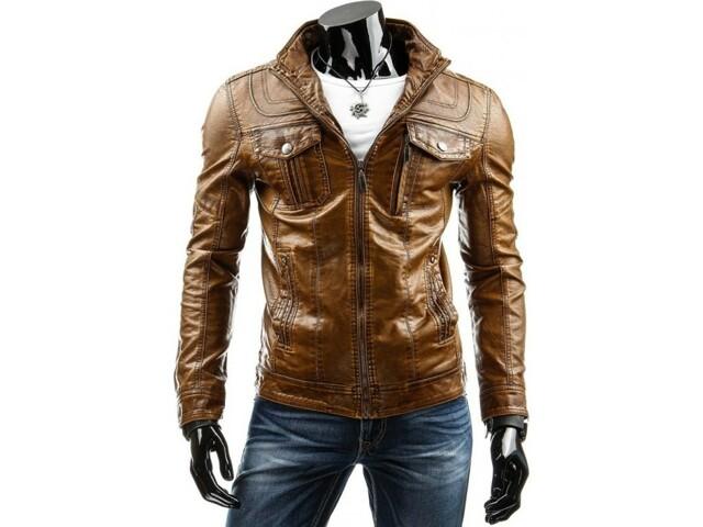 Pánská kožená bunda 12910 (tx1874) - HTRANG - XL - hnědá