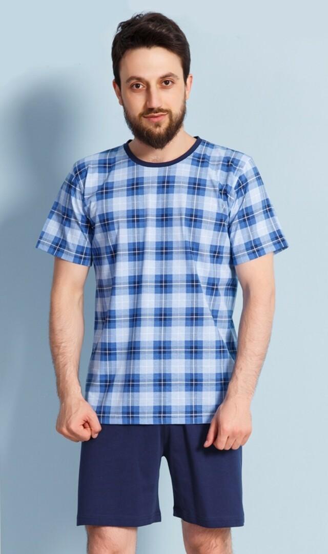 Pánské pyžamo šortky Jan - modrá XL