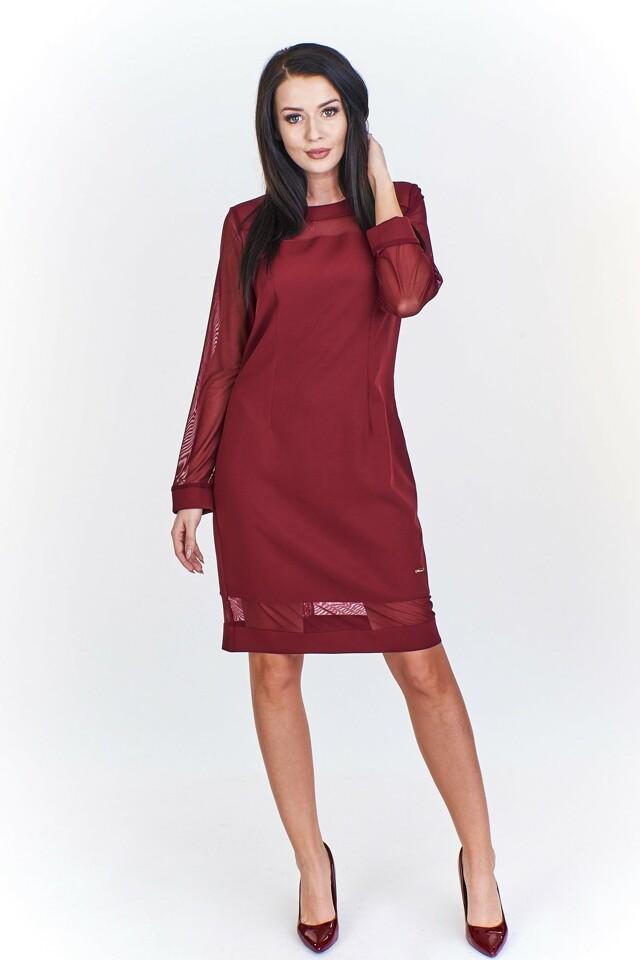 919d0b267e7 Dámské šaty M51965 - Adika Collection - 46 - vínová