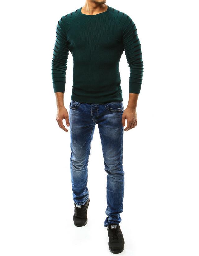 Pánský zelený svetr wx0978 Leccos