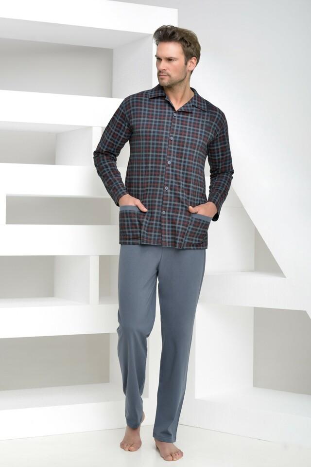 Pánské pyžamo Gabor tmavě modré s knoflíky