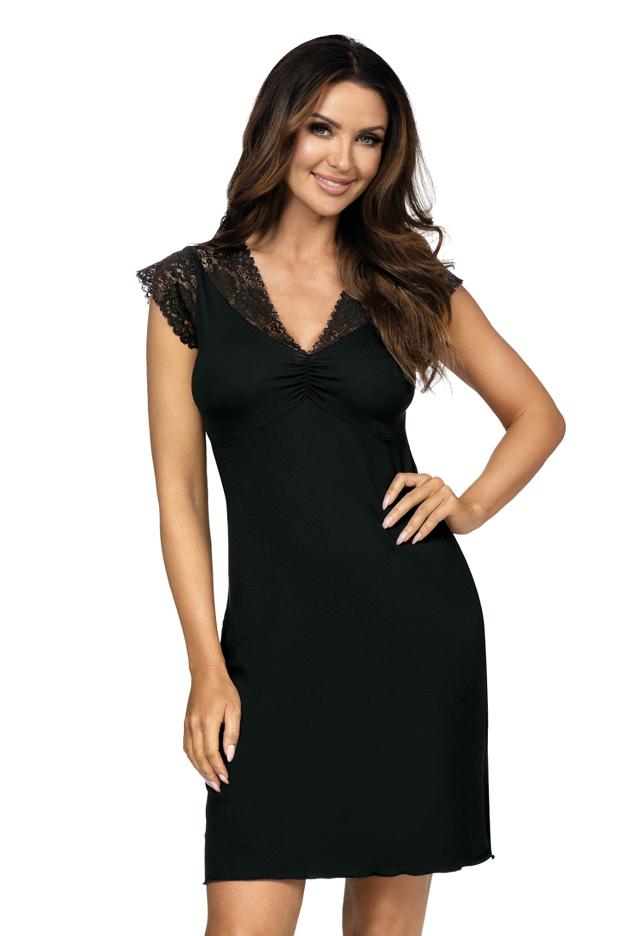 Dámská noční košilka Donna Eleni - 36 - černá