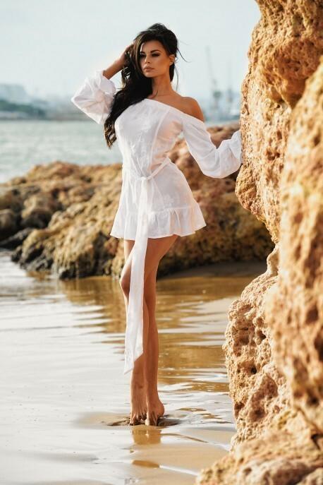 Dámské šaty TILLY MINI DRESS - ChickChick - S - bílá