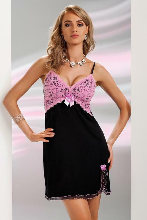 Noční košilka Donna Anita pink - M - růžová