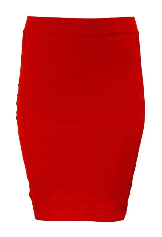 Pletená sukně in-su1004 Koucla - S/M - červená