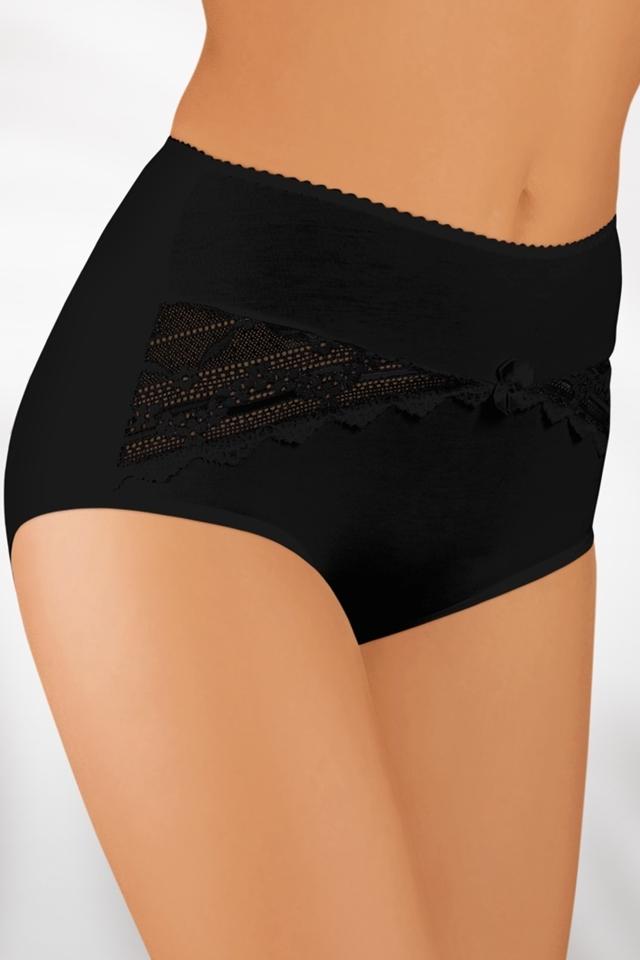 Dámské kalhotky 004 plus black - 3XL - černá