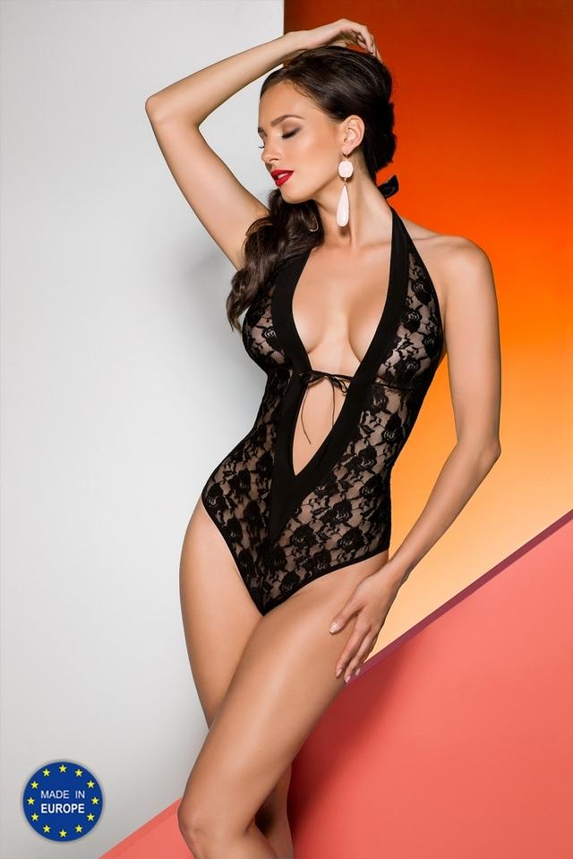 Erotické body Rayen body black - L/XL - černá