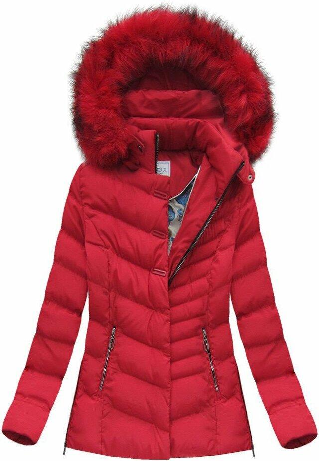Červená dámská zimní bunda (W583) - S (36) - červená