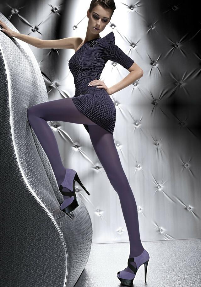 Punčochové kalhoty Fiore Roza 60 den - 4-L - černá