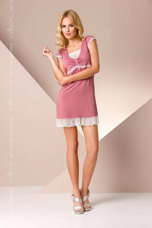 Noční košile Passion PY002 - M - staro růžová