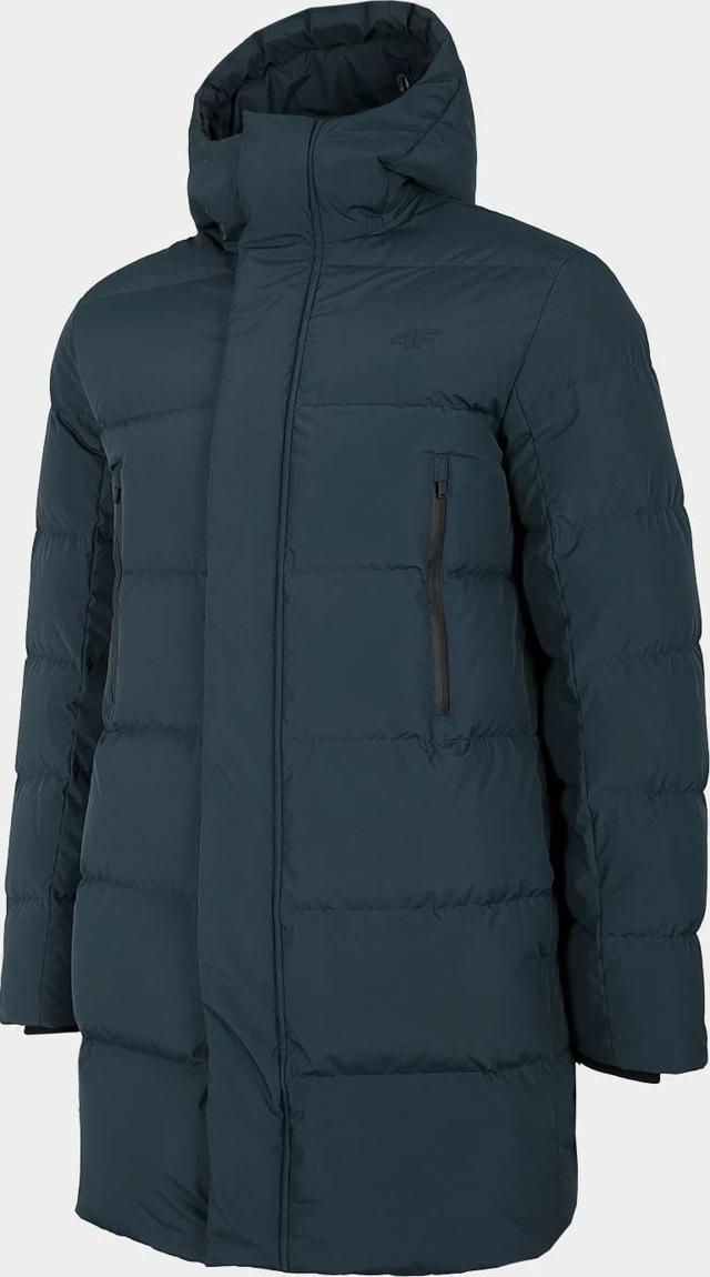 Pánský péřový kabát 4F KUMP201 Tmavě modrý - S - Modrá