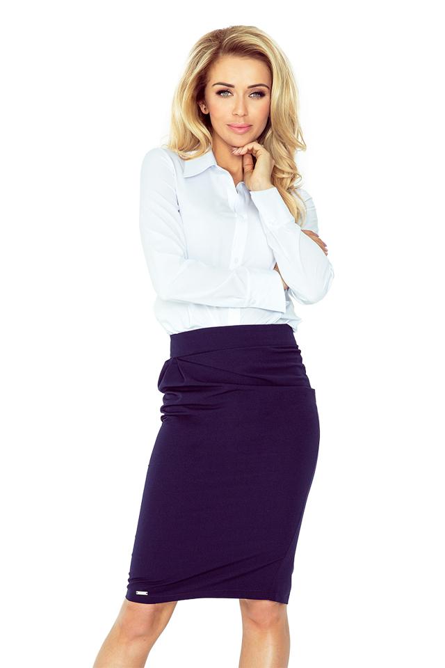 Tmavě modrá sukně s překlady MM 001-2