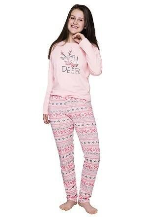 Dívčí pyžamo Sofia lososové norský vzor