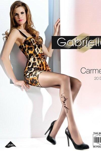 Dámské punčocháče Carmen 369 grey-brown - L/XL - černá