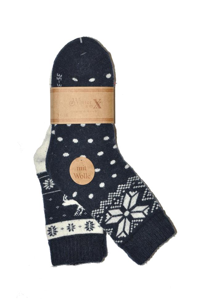 Dámské ponožky WiK 37835 Winter Sox A 2 - 35-38 - tmavě modrá c4169324fa