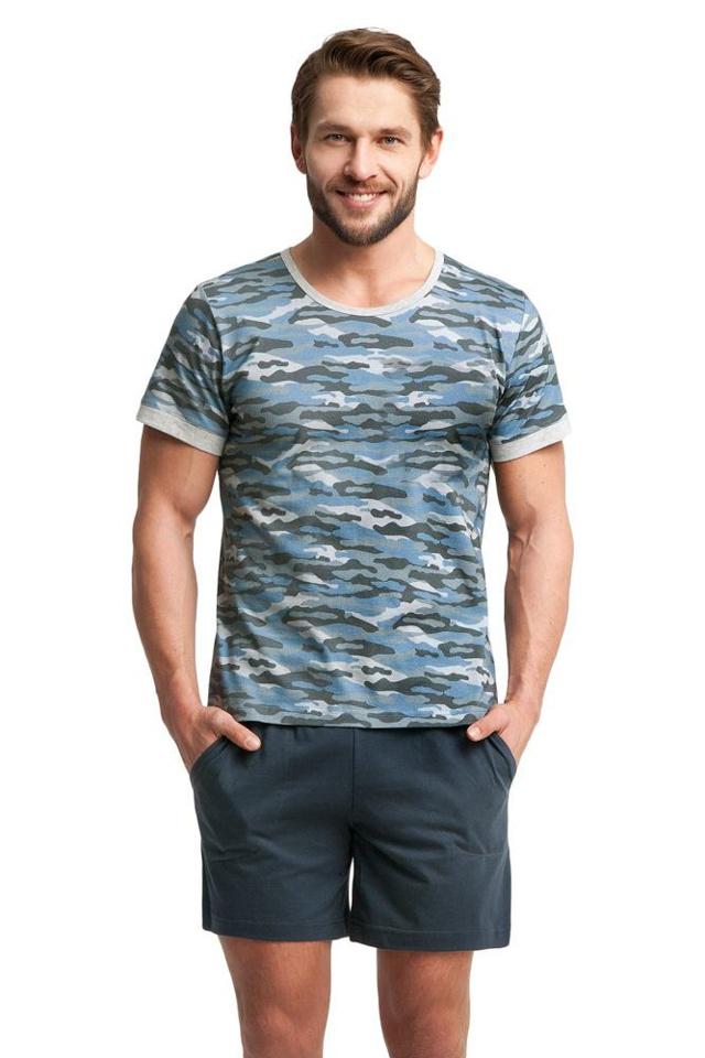 Pánské pyžamo Army modré - XXL