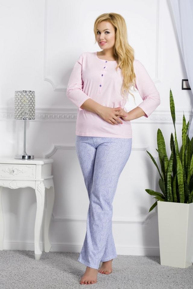 Dámské pyžamo 2008 Teresa pink-blue - XXL - modro-růžová