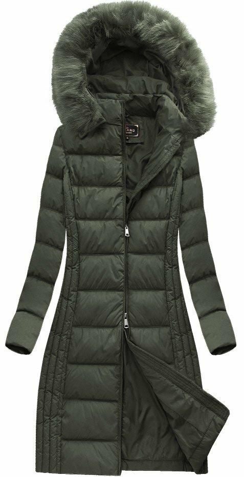 Khaki dámská zimní bunda (7753) - S (36) - khaki