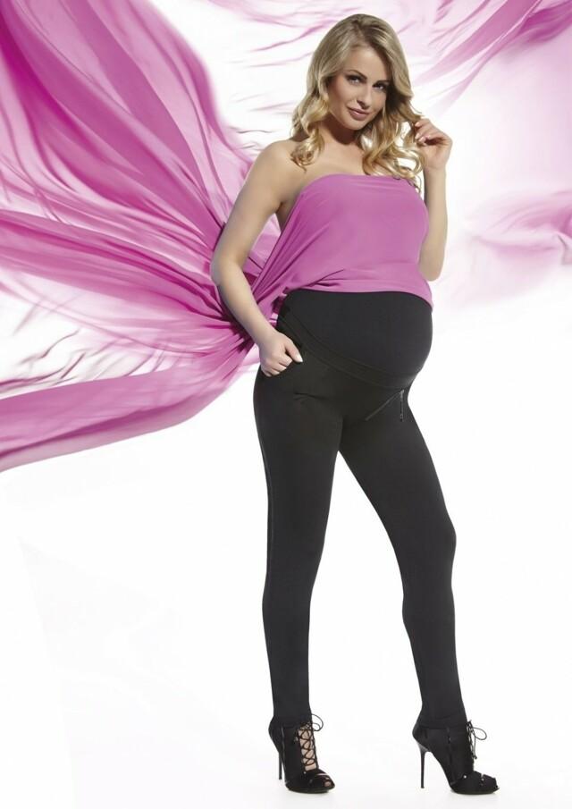 Těhotenské legíny Camile - L - černá