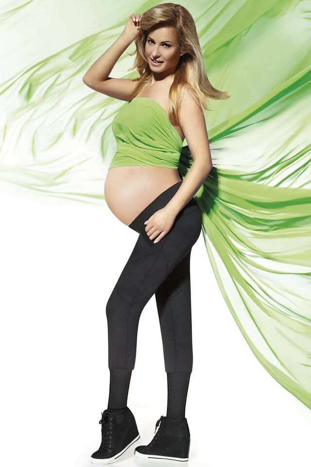 Těhotenské legíny Veronica - XXL - černá